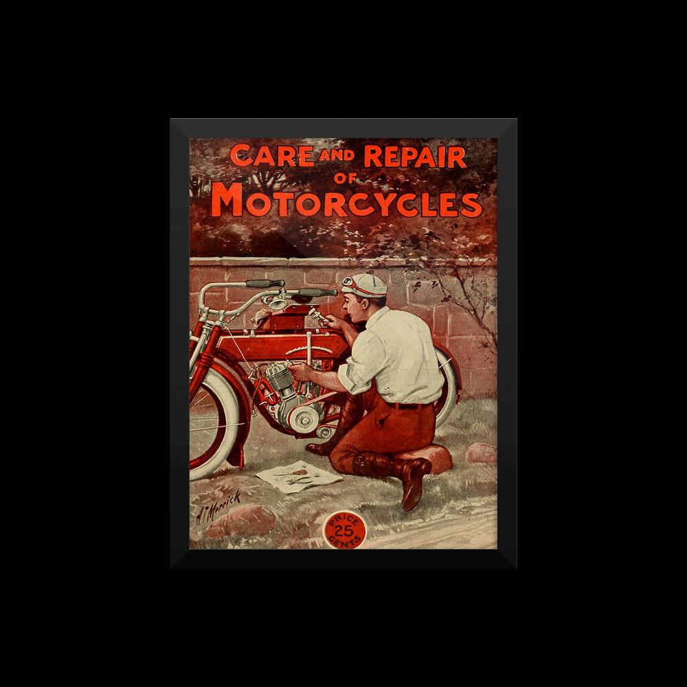Vintate Bike Repair framed-poster