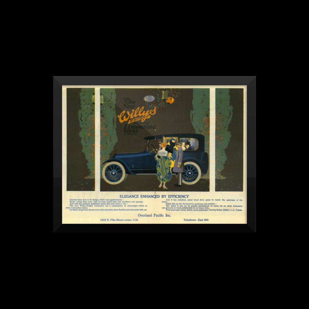Willys Vintage Car Ads Poster