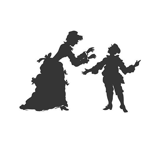 Man and Woman siluets