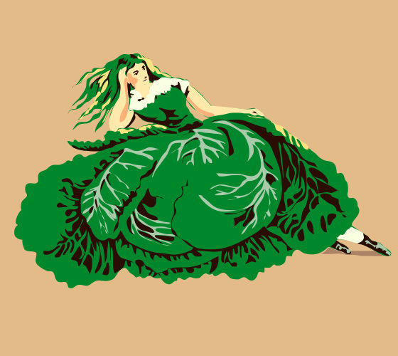 Cabbage dress