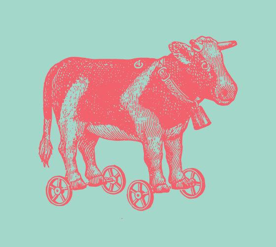 Cow on wheels