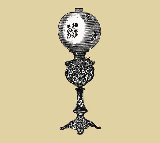 Brass Banquet Lamp 1