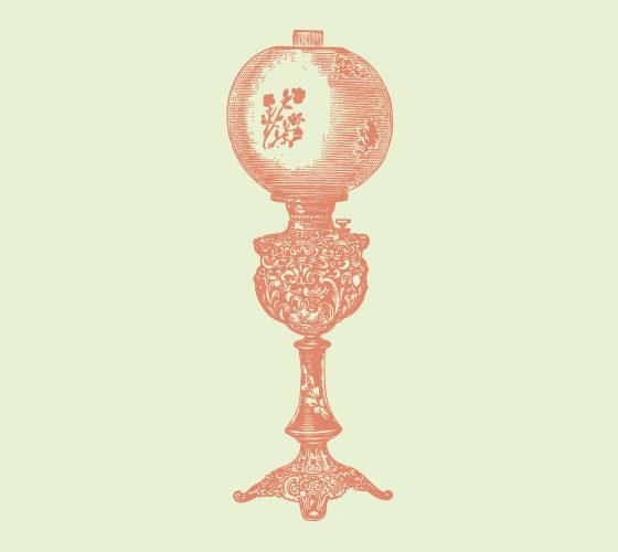 Brass Banquet Lamp 2