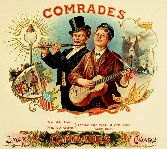 Vintage cigars adversiting, comrades