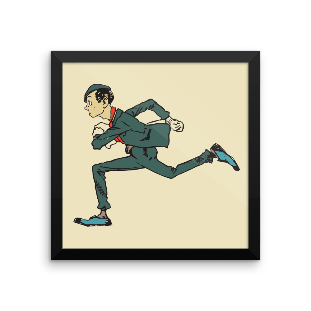 Running Guy Poster