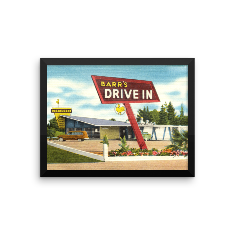 Drive in Poster Vintage