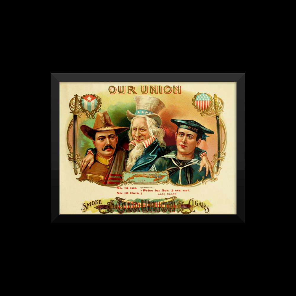 Cigar Box Vintage Framed